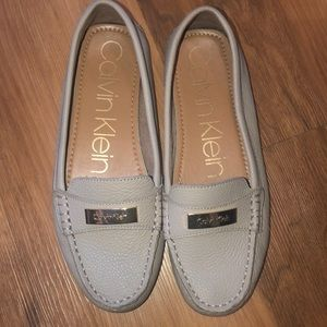 Tan Calvin Klein loafers